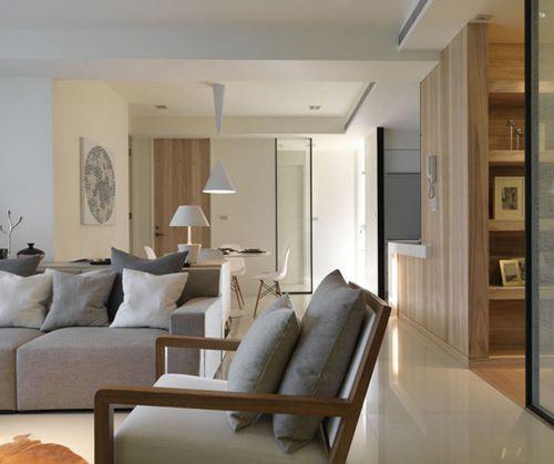 韩式风格二居室客厅壁纸装修图片