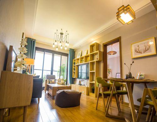 韩式风格二居室客厅吊顶装修效果图