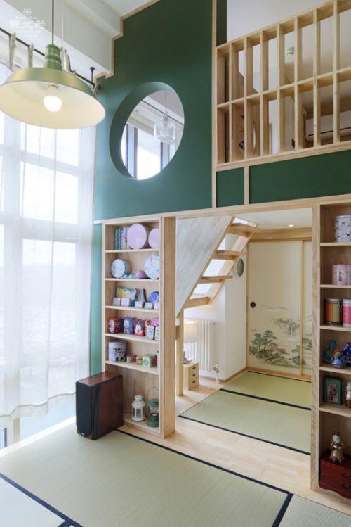 韩式风格三居室客厅影视墙装修效果图大全