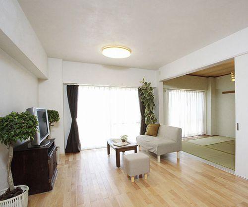 简约清新韩式风格客厅装修效果图