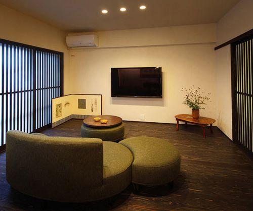 简单雅致韩式风格客厅装修效果图