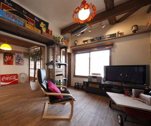 趣玩韩式风格客厅装修效果图