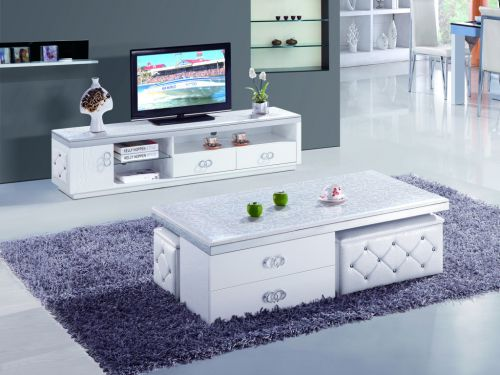客厅韩式时尚白色电视柜效果图设计