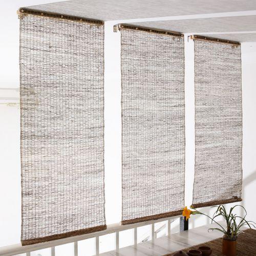 米色日式透光客厅窗帘效果图