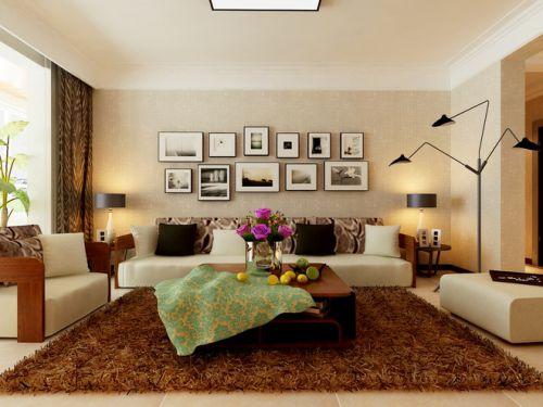 韩式风格二居室客厅沙发装修图片