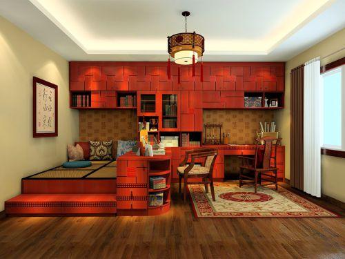日式客厅书柜装修效果图