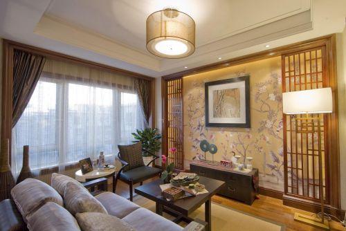 正宗日式风两居室可伸缩客厅屏风效果图