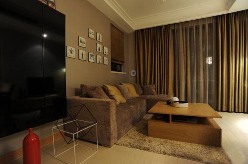 韩式风格一居室客厅装修图片欣赏
