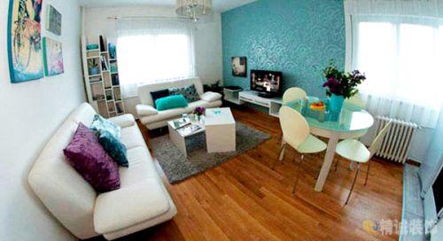 韩式风格一居室客厅装修效果图欣赏