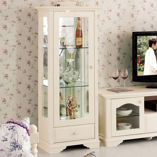 韩式风格三居室客厅酒柜装修效果图