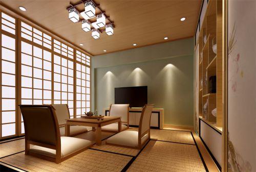 日式风格多功能客厅原木色榻榻米装修图片