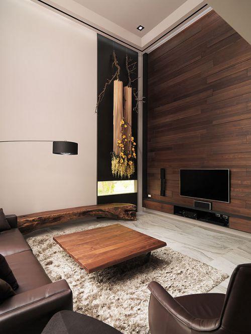 日式风格韵味客厅茶几装修实景图