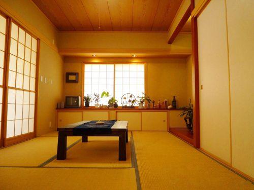 日式风格传统样式榻榻米装潢设计效果图