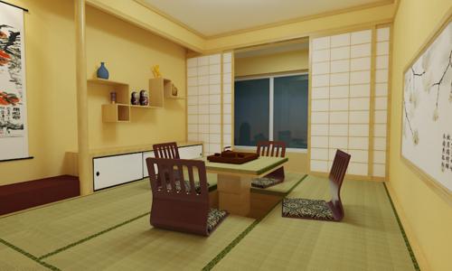 韩式风格二居室客厅榻榻米装修效果图