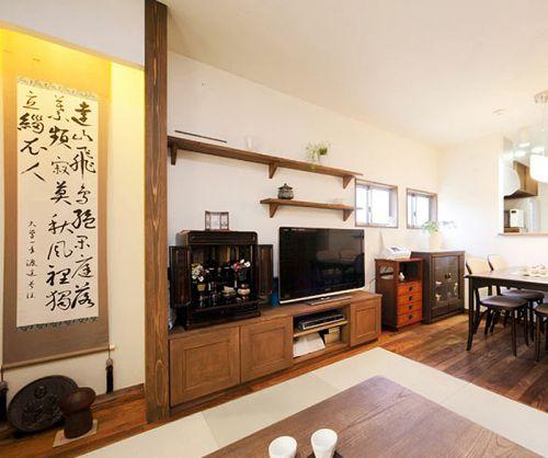 文雅韩式风格客厅电视背景墙装修效果图