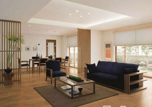 韩式风格四居室客厅背景墙装修效果图