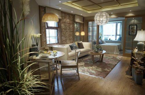 韩式风格三居室客厅沙发装修图片