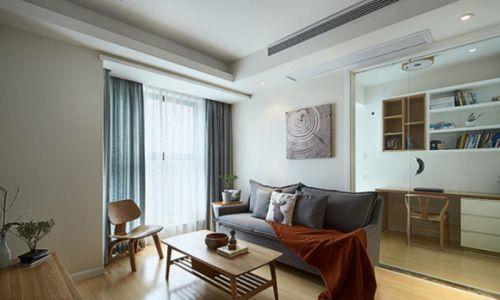 韩式风格二居室客厅窗帘装修效果图