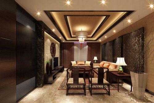 韩式风格三居室客厅吊顶装修效果图欣赏