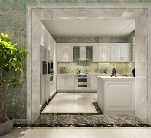 简欧风格五居室厨房橱柜装修效果图