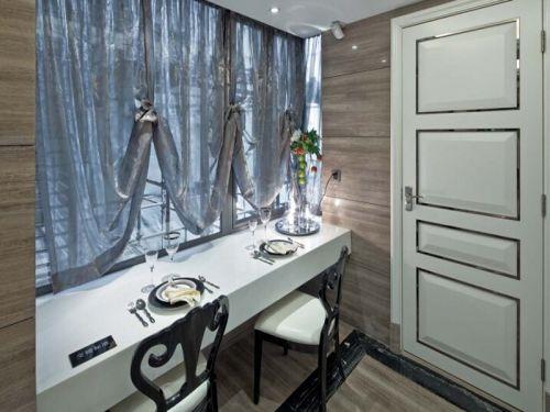 简欧风格三居室厨房灯具装修效果图欣赏