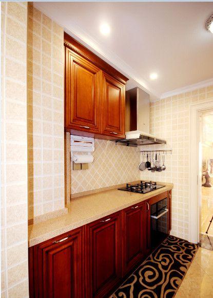 简欧风格二居室厨房灶台装修效果图欣赏