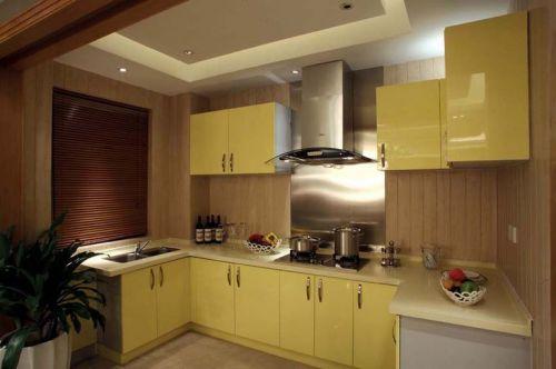 简欧风格三居室厨房灶台装修效果图欣赏