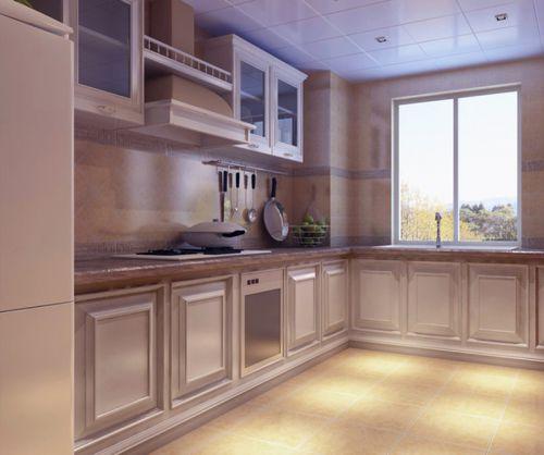 简欧风格二居室厨房灯具装修效果图大全