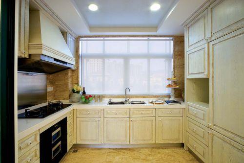 现代简欧原木厨房效果图