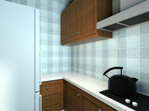 简欧风格二居室厨房橱柜装修图片