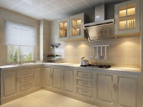 简欧风格三居室厨房灶台装修效果图
