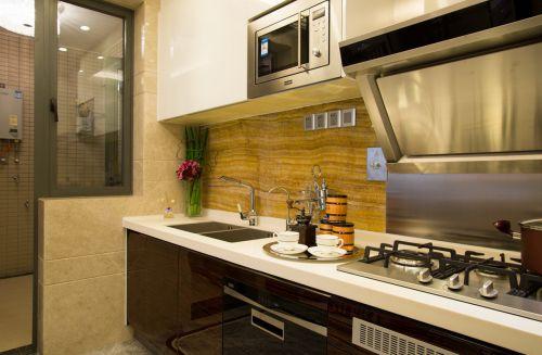 简欧风格二居室厨房瓷砖装修图片