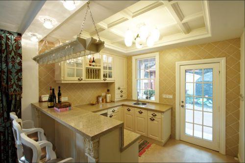 奢华120平三居简欧装修样板间厨房实景图
