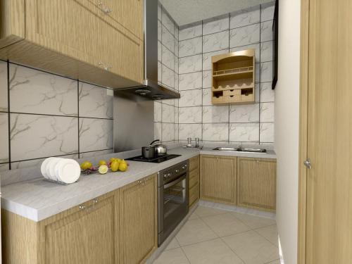 简欧风格二居室厨房装修图片欣赏