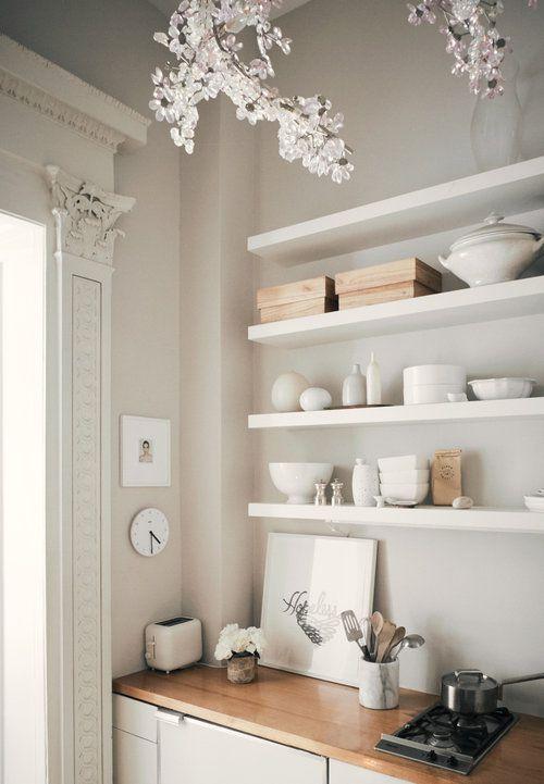简欧风格雅致时尚厨房收纳设计图