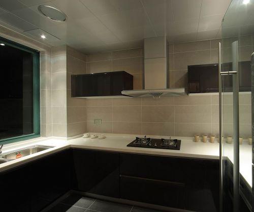 简欧风格二居室厨房灶台装修效果图大全
