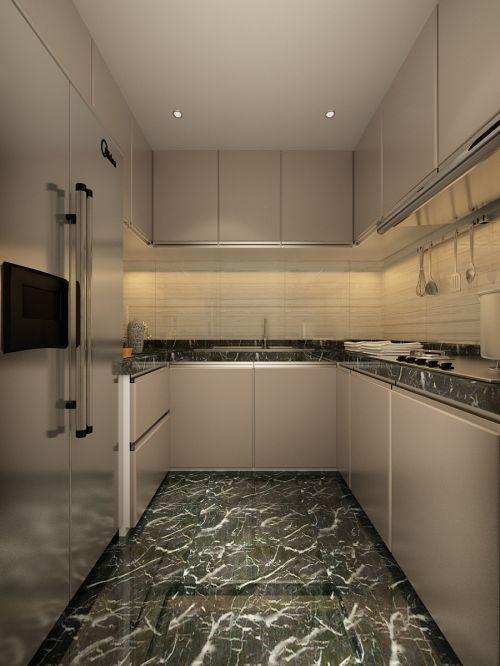 简欧风格一居室厨房装修效果图欣赏