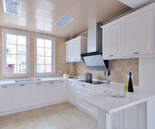 简欧风格二居室厨房灶台装修图片