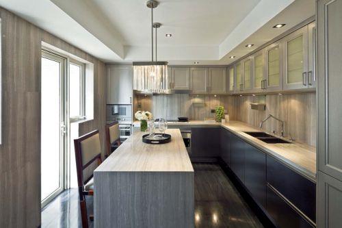 简欧风格三居室厨房橱柜装修效果图