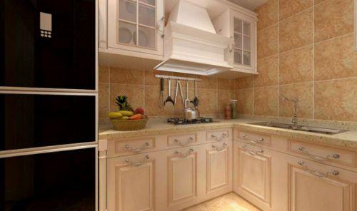 简欧风格二居室厨房橱柜装修效果图