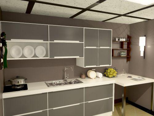 简欧风格一居室厨房装修效果图