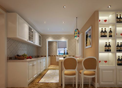 简欧风格六居室厨房灯具装修效果图大全