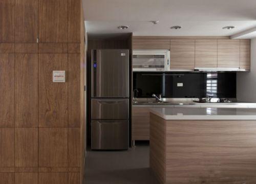 简欧风格一居室厨房橱柜装修效果图