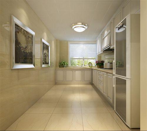 简欧风格二居室厨房橱柜装修效果图大全