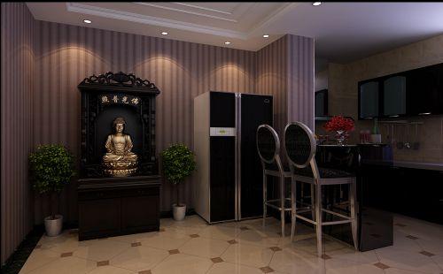 简欧风格三居室厨房背景墙装修效果图欣赏