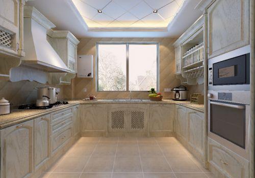 简欧风格五居室厨房背景墙装修效果图欣赏