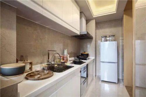 简欧风格三居室厨房吧台装修效果图欣赏