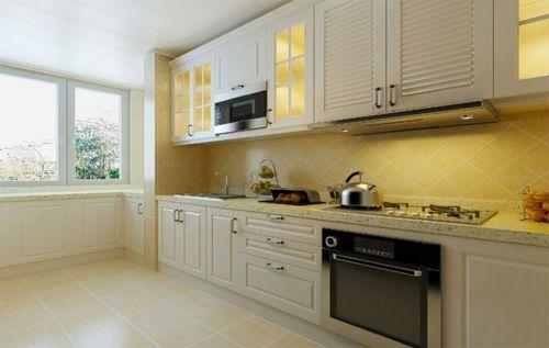 简欧风格三居室厨房灯具装修效果图