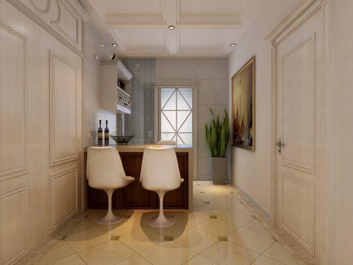 简欧风格三居室厨房背景墙装修效果图