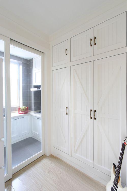简欧风格一居室厨房储物柜梳妆台装修效果图欣赏